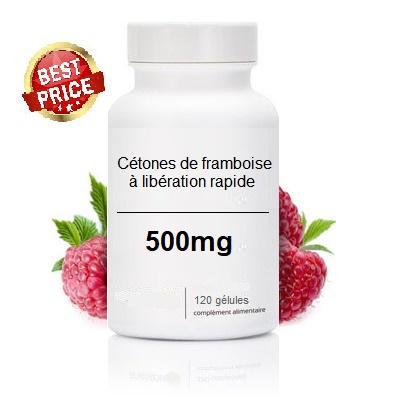 Cétones de Framboise à libération rapide (120 Gélules de 500 mg)