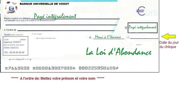 Chèque abondance