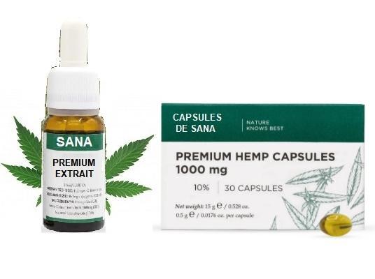 Huile de Sana (10ml ou 30 ml) / Capsules molles (1000 mg)