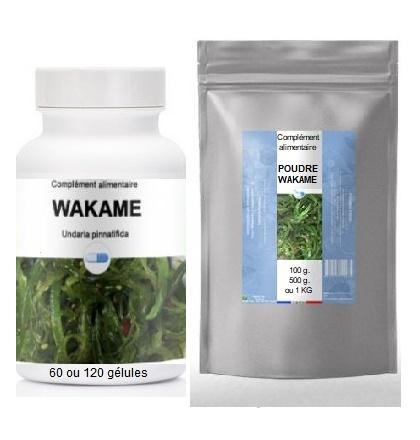 Wakame gelules ou poudre / Vente en Cyberboutique